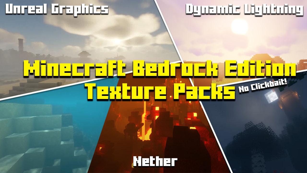 Minecraft Bedrock Edition 12.126+ Top 12 Ultra Texture Packs FREE (122)