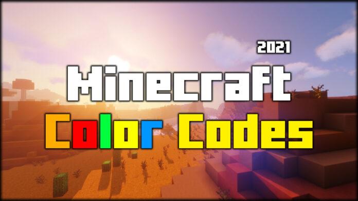 Minecraft Color Codes 2021