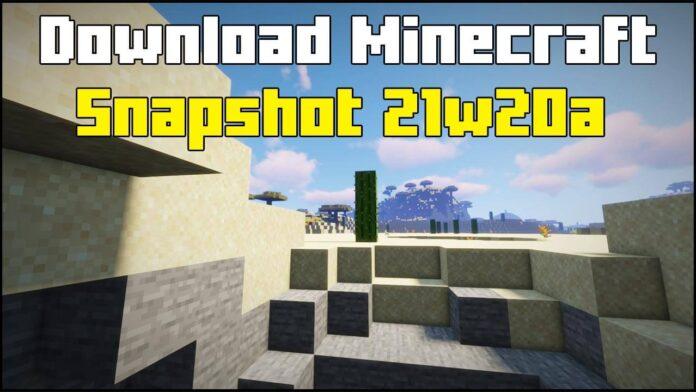 Minecraft Snapshot 21w20a