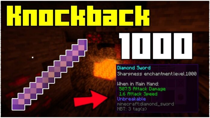 How To Get A Knockback 1000 Stick In Minecraft 1.17.1!