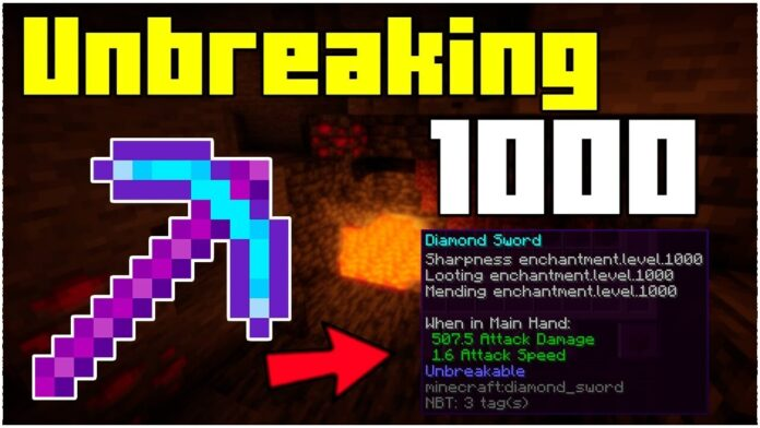 How To Get A Unbreaking 1000 Pickaxe In Minecraft 1.17.1