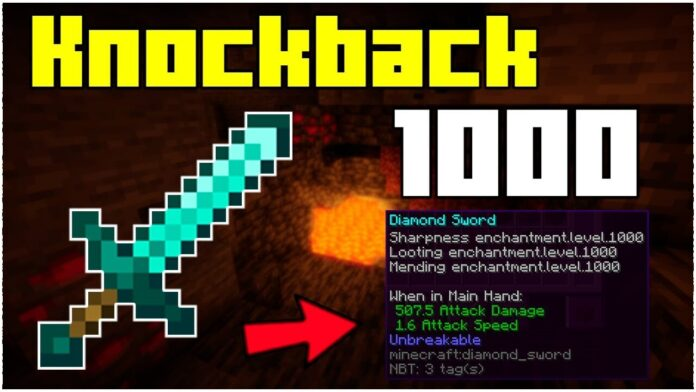 How To Get A Knockback 1000 Sword In Minecraft 1.17.1
